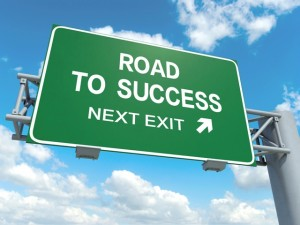 road to success crop