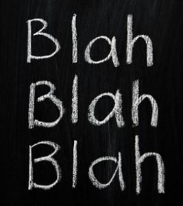 words blah