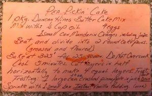 Susans Pea Pickin' Cake 1