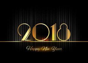 Gold New Year 2018 Luxury Symbol