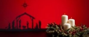 manger and candle