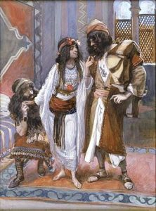 Rahab the harlot of Jericho and the 2 spys Tissot
